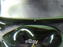 Rare Milieu Du Siècle Moderne Blown Glass Art 1958 Wayne Husted 8,75 Purple Owl Vase