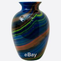 Rare Vase En Verre De Murano Marmored Cru Missoni Art 80 Verre Parfait État