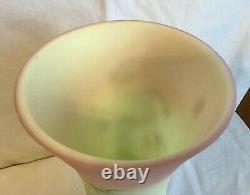 Rare Vintage Fenton Art Glass Birman Peacock Limited Edition Vase