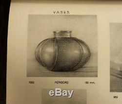 Réduit Tres Rare René Lalique Vase Perigord 1928 Art Déco R Lalique
