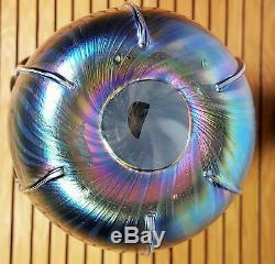 République Tchèque Soufflé À La Bouche Art Glass Vase-monnaie