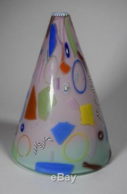 Richard Marquis Noble Effort Art Vase En Verre Avec Murrines