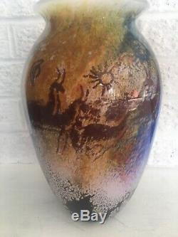 Rick Satava Vase En Verre H 11