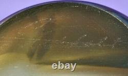 Robert Eickholt Art Glass Oilspot Vase- Miroir Turquoise/ Violet Irisé