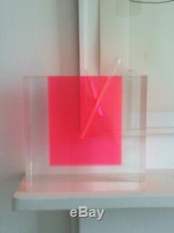 Shiro Kuramata Vase En Verre Clair Et Acrylique Fluoro Rose