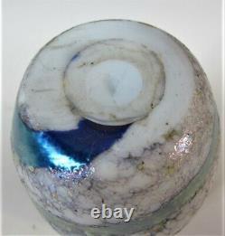 Signé Au Début Charles Lotton Lava Art Glass Vase C. 1977 American Vintage
