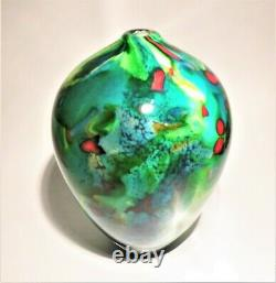 Signé Peter Layton British Studio Art Glass Vase