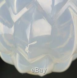 Signé René Lalique Nivernais Art Déco Vase En Verre Opalescent No 1005 Vers 1927
