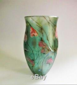 Signée À 1983 Siddy Langley Verre D'art Vase