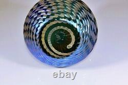Small Stupéfiant Kralik Iridescent Verre Vase Couleurs Dramatiques Art Nouveau C. 1900