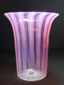 Steuben Art Glass Vase Oriental Aux Pavots