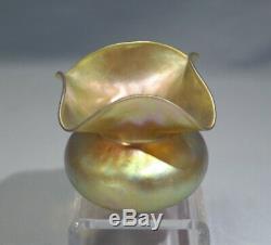 Steuben Art Nouveau Aurene Art Glass Vase Bud Circa 1915