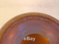 Steuben Aurene Or Multi Art Glass Vase 2683 Signé 8 1/2 Iridescent Grand