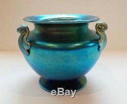 Steuben Bleu Irisé Aurene Art Glass Vase, Carder Era Mint