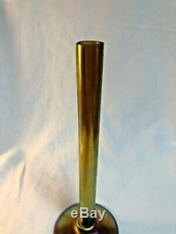 Steuben Gold Aurene Art Glass Vase À 8 Bâton Signé & # 2556 Carder Classic