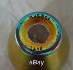 Steuben Gold Vase En Verre Art Signé Aurene Art Aucune Réserve! Livraison Gratuite 2.5