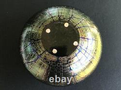 Stuart Abelman Vase En Verre D'art Iridescent Amethyst 7x8 Immaculé Original Nr