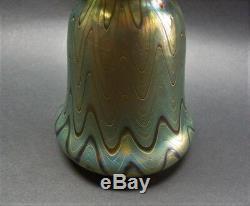 Superbe 6 Loetz (autriche) Verre Phanomen Art Nouveau Vase C. 1900
