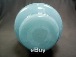 Superbe Scarten Monart Pale Avue Bleue Bleue Aventurine En Verre Forme Ra VII 180 MM