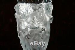 Superbe Style Art Déco Lalique Satin Verre Bacchantes Vase Danse Nus 8.5'