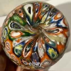 Superbe Vase En Verre D'art De Très Haute Qualité Murano Millefiori Murrine Freeform