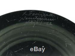 Superbe Vase En Verre De Nuutajarui Notsjo Smoky & Clear Art 1962 Kaj Franck
