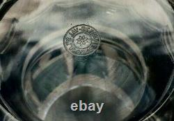 Superbe Vintage Val Saint-lambert Art Glass Vase Teal Par Charles Graffart