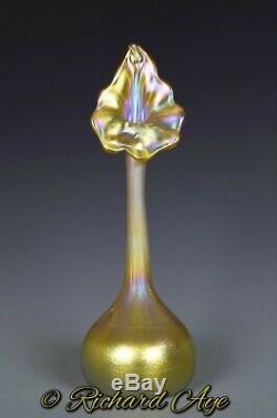 Tiffany Favrile Vase En Verre D'art Doux En Chaire Vers 1904