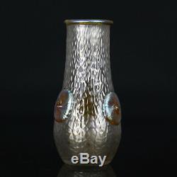 Un Nouveau Art Beau Iridescent Loetz Vase Candie Martele 1903