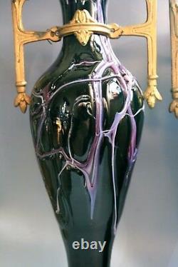 Une Paire D'art Antique Nouevau Jugendstil Loetz Vases En Verre Circa 1915