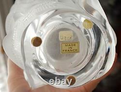 Vase À Couper Le Souffle Vintage Lalique France Lrg Martinets Vase En Verre D'art Givré