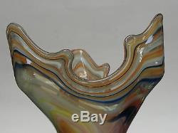 Vase À Motif De Tourbillon Abstrait En Verre De Forme Abstraite Au Début Du Xxe Siècle, Grand Format