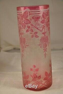 Vase Ancien Art Nouveau Baccarat Antique Cameo Vase En Verre