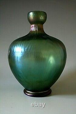 Vase Antique En Verre Irisé Art Nouveau Loetz
