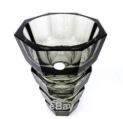 Vase Art Déco En Verre Josef Hoffmann Pour Moser En Verre Tchèque Tchécoslovaquie À Partir De 1930
