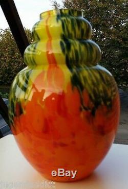 Vase Art Deco En Verre Multicouche De Scailmont Belgique Modele De Catteau