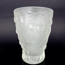 Vase Art Déco Joseph Inwald Barolac Dépoli Cerises En Verre Tchèque 1934