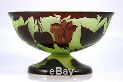 Vase Art Nouveau En Verre De Camée Signé Loetz