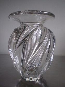 Vase Cristal Pierre D Avesn Art Déco Vintage Verrerie Verre 1930