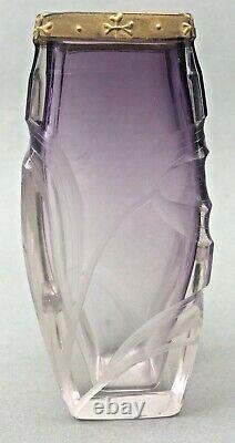 Vase D'armoire En Verre Art Nouveau Moser