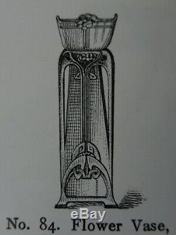 Vase D'origine Wmf Jugendstil Art Nouveau Floral 1900 Kristallglas Verre Liner