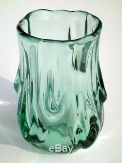 Vase De Verre De Série Flavio Poli Murano Seguso Vetri D'années 1930 Arte