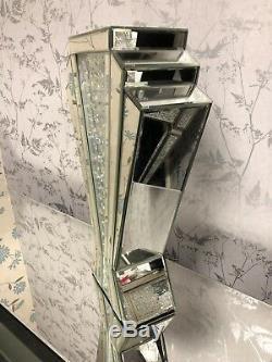 Vase En Cristal Flottant En Verre Art Deco Avec Miroir 60 (cm)