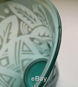 Vase En Daum Nancy Verre Signed France Art Deco / Verre Vase Art Deco Daum