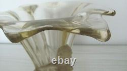 Vase En Verre Antique, Art Déco Walther & Sohne Avec Figures Givrées, Vase Windsor
