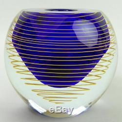 Vase En Verre Art Bohême Tchèque Stanislav Libensky Skrdlovice Verreries