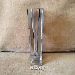 Vase En Verre Art Déco Vintage Géométrique Karl Palda Petit Bohème Des Années 1930