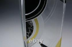 Vase En Verre Bohème Tchèque Art Déco Émaillé Et Décoration Découpée Karel Palda