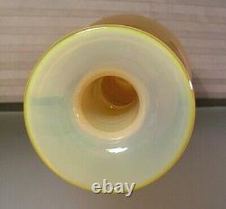 Vase En Verre D'art Moderne Du Milieu Du Siècle Orange 18 Tall Blenko