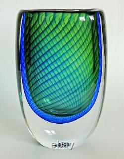 Vase En Verre D'art Scandinave Kosta Conçu Par Vicke Lindstrand, Vers 1958-1959